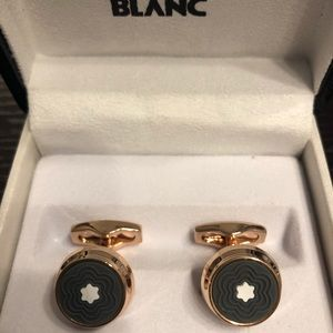 New Montblanc Rose Gold Coated Cufflinks